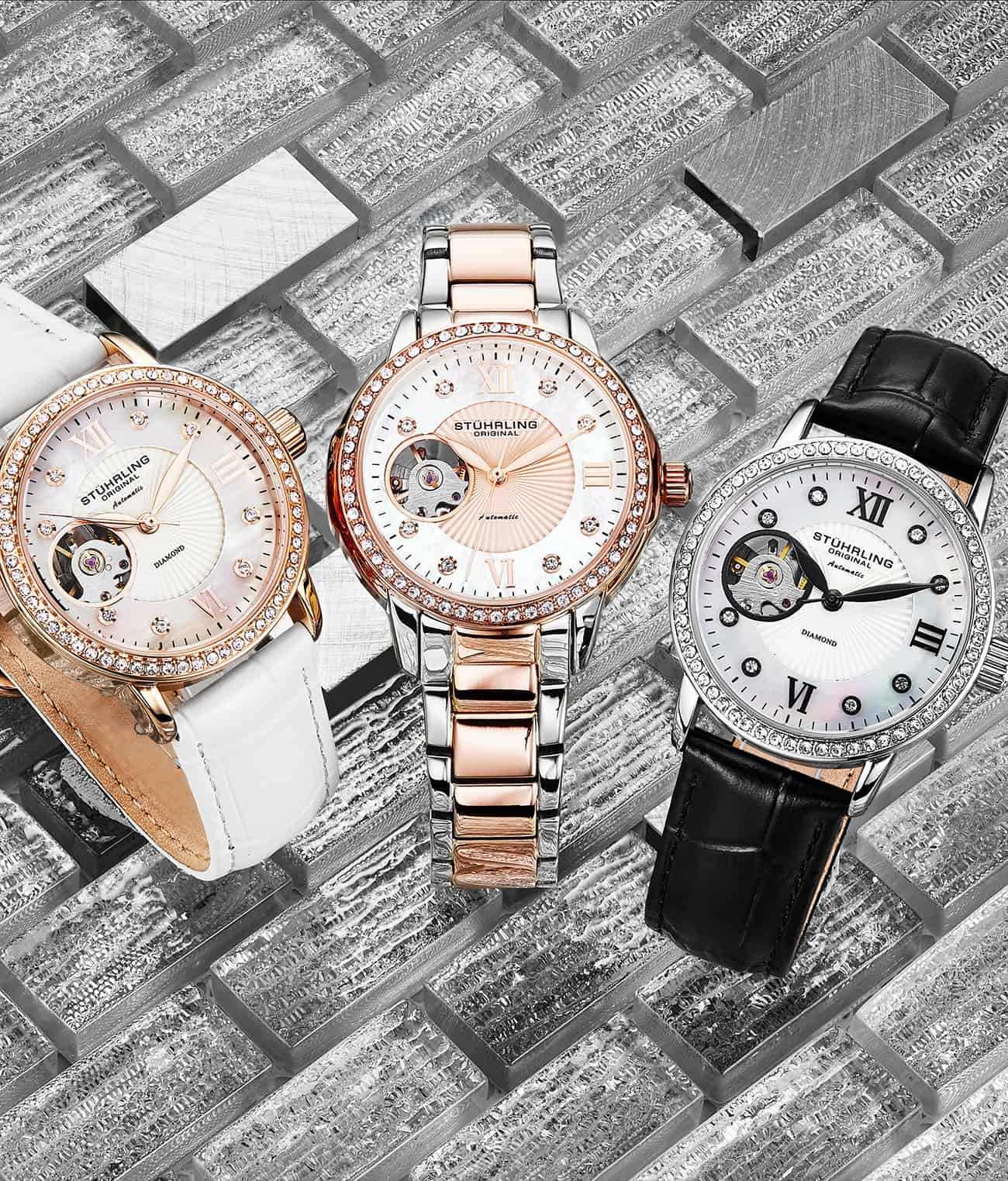 Silver Dial / Silver Case / Rose Band