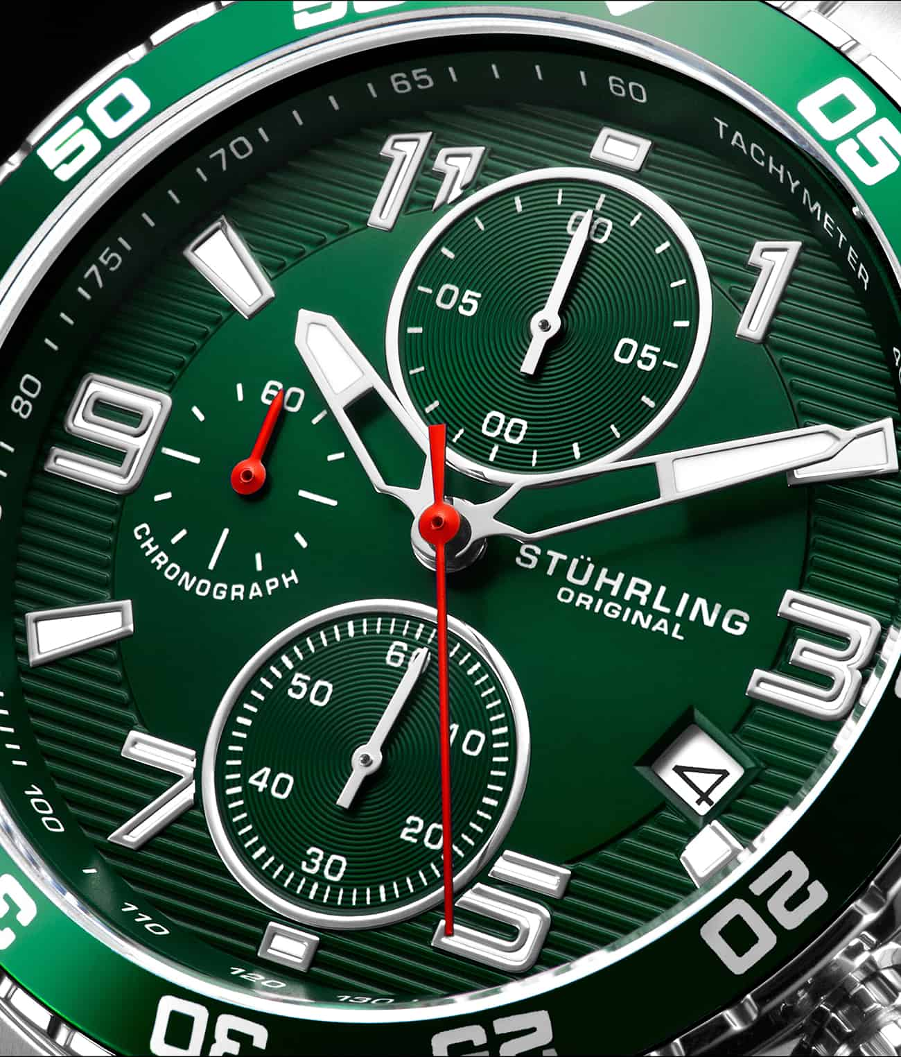 Green Dial / Silver Case / Silver Band