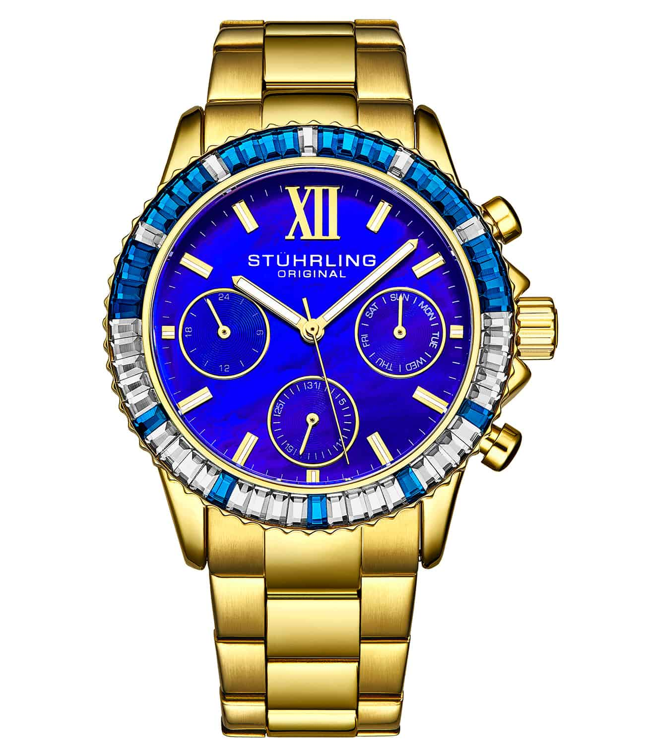 Blue Dial / Gold Case / Gold Band