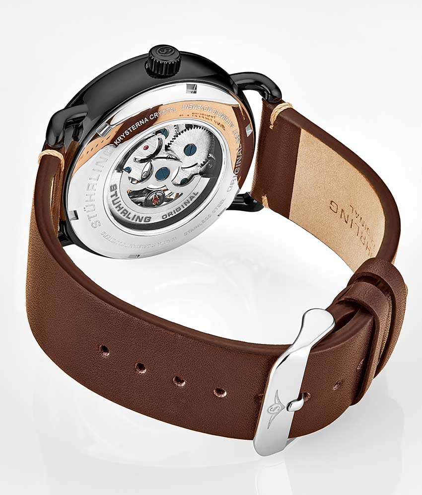 Black Dial / Black Case / Brown Band