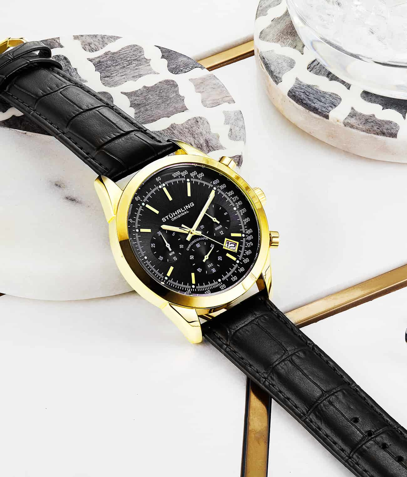 Black Dial / Gold Case / Black Band