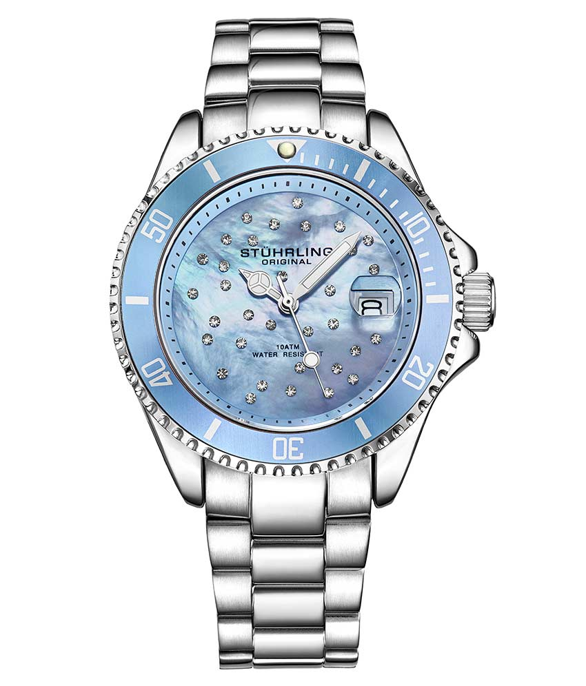 Light Blue Dial / Silver Case / Silver Band