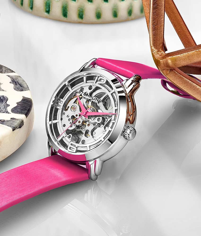 Silver Dial / Silver Case / Pink Band