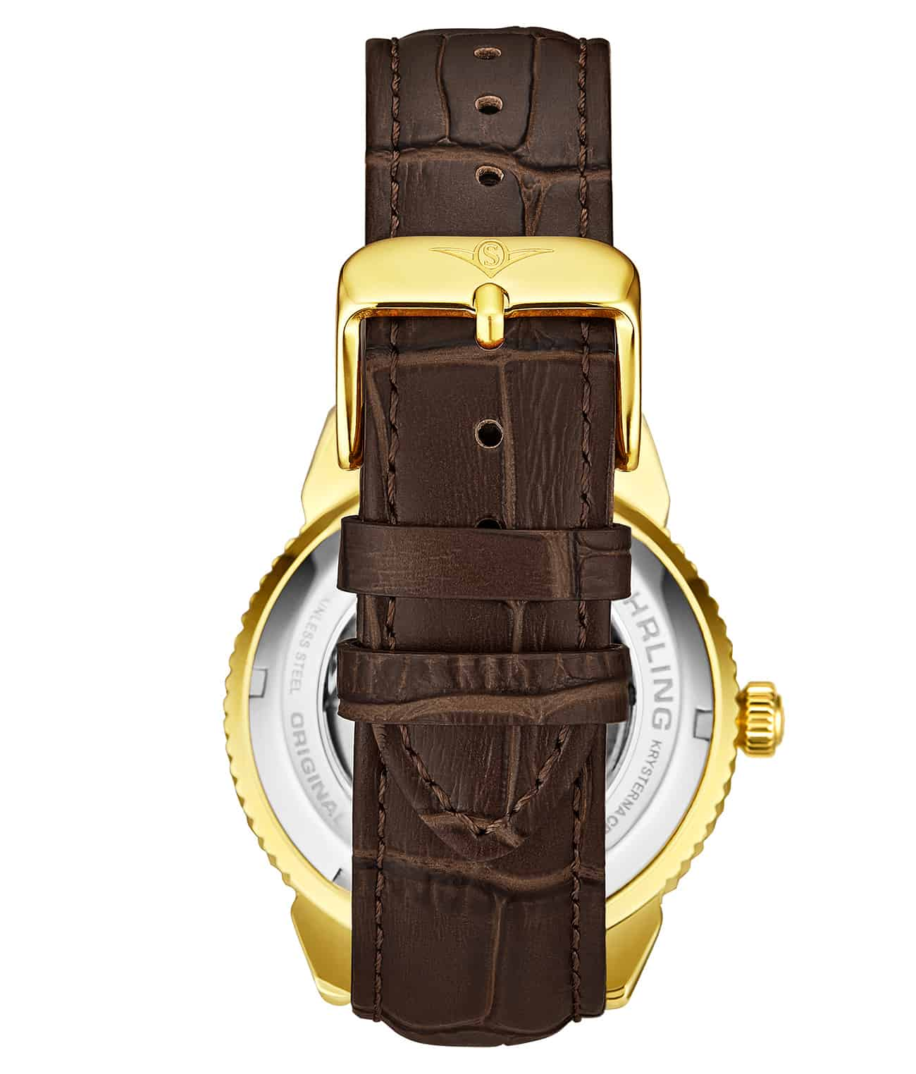 White Dial / Gold Case / Brown Band