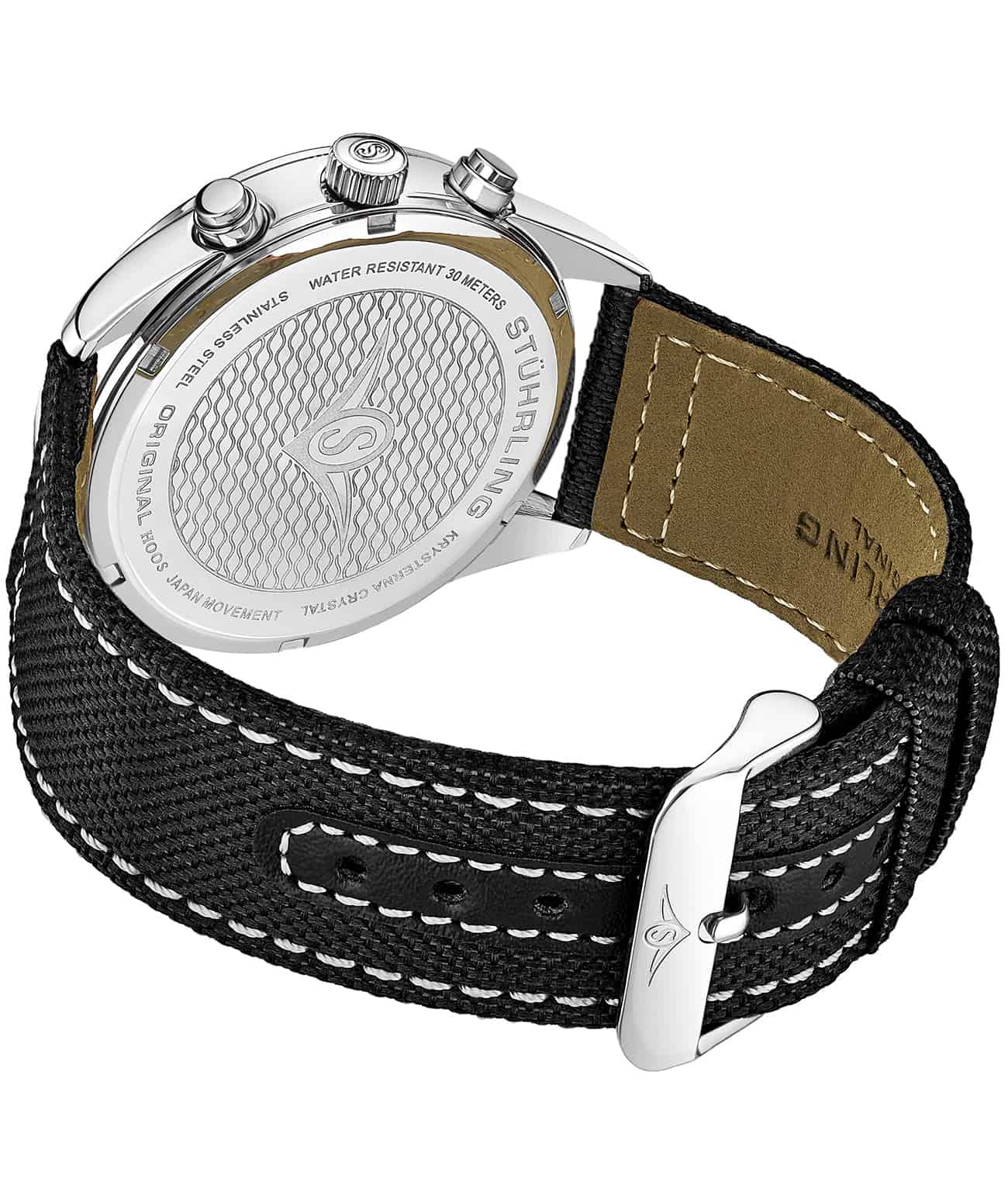 Black Dial / Silver Case / Black Band