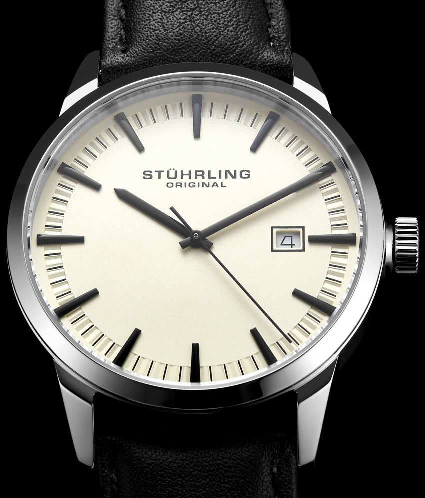 Ivory Dial / Silver Case / Black Band