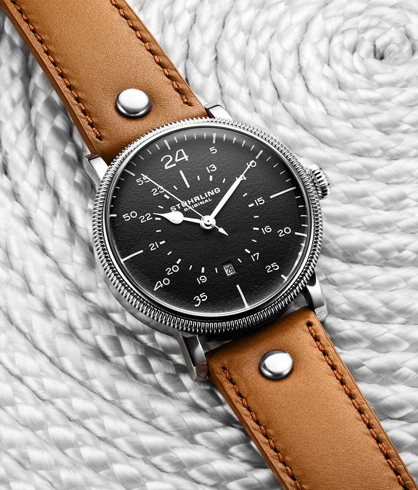 Gun Metal Grey Dial / Silver Case / Brown Band