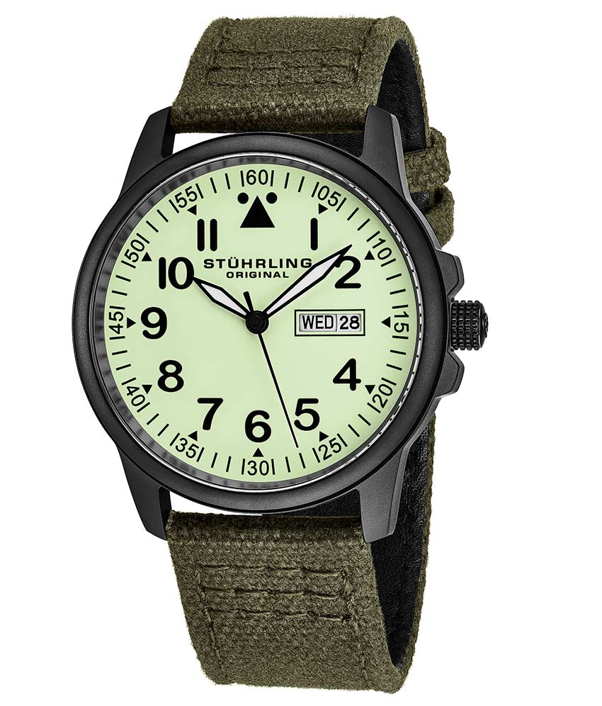 Light Green Dial / Black Case / Green Band