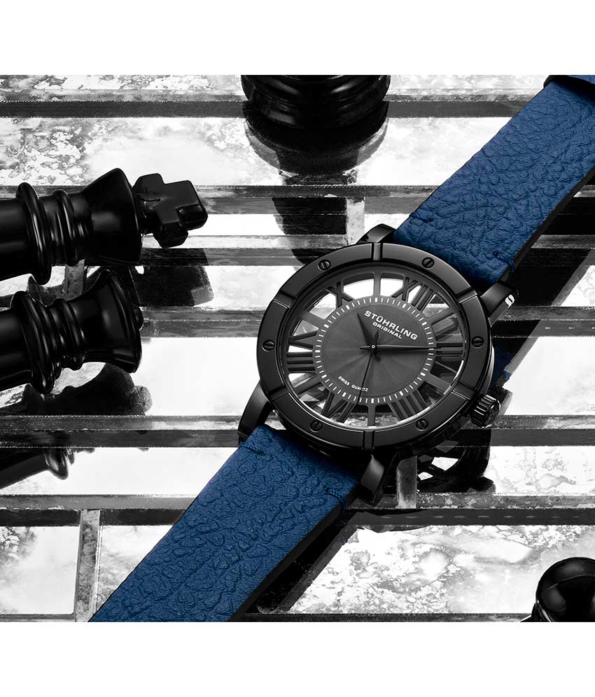 Black Dial / Black Case / Blue Band