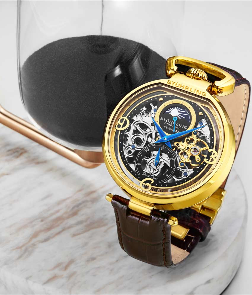Black Dial / Gold Case / Brown Band
