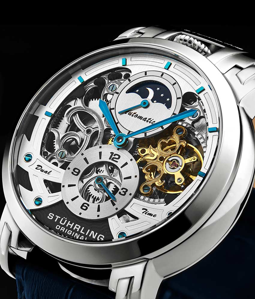 Silver Dial / Silver Case / Blue Band