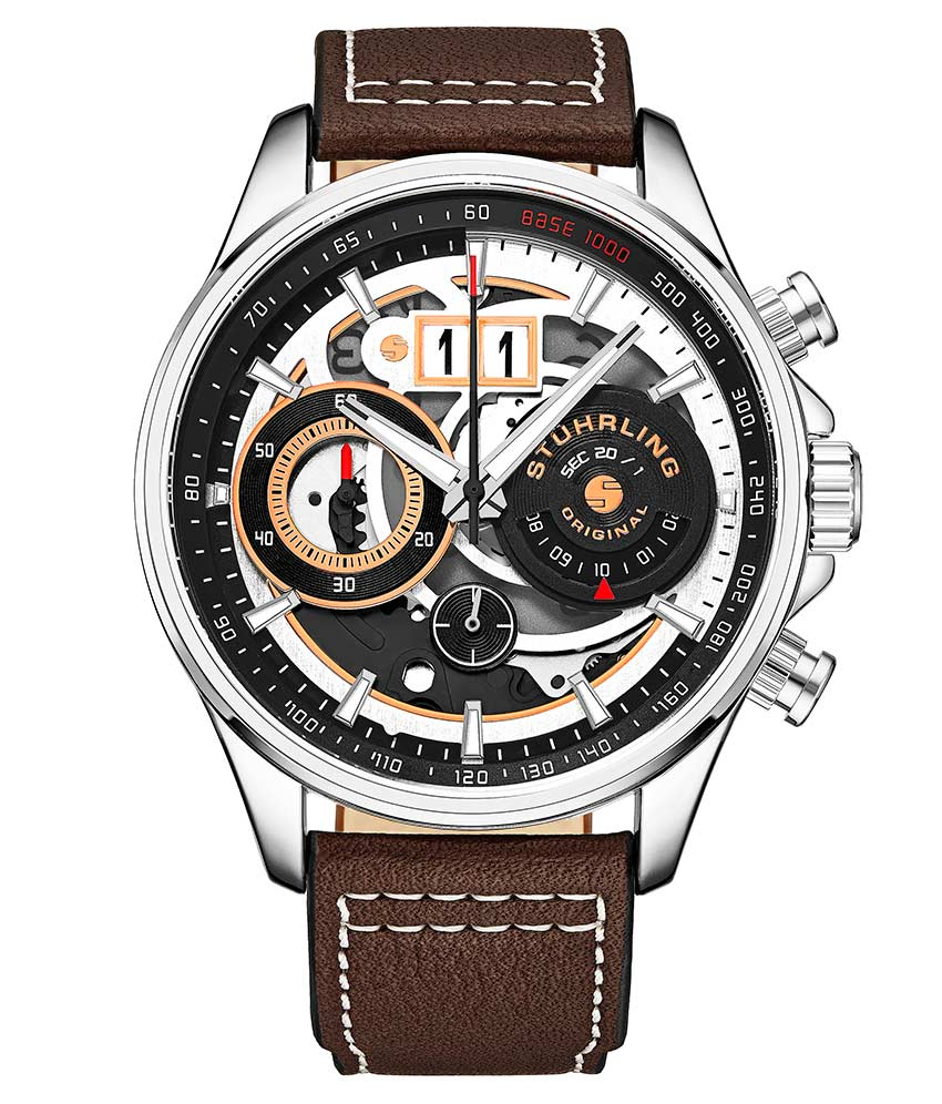 Black Dial / Silver Case / Brown Band