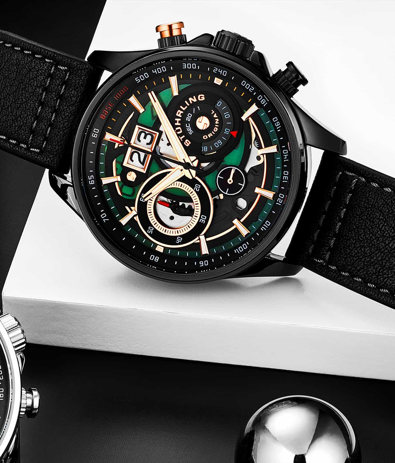 Ace Aviator Chronograph & Tachymeter 923 Quartz 45mm