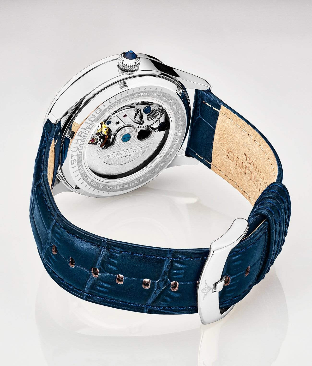 White Dial / Silver Case / Blue Band