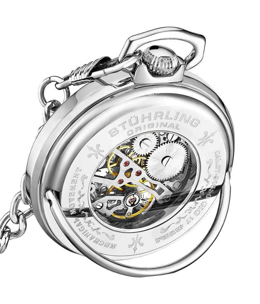 White Dial / Silver Case / Stainless Steel Pocket Watch