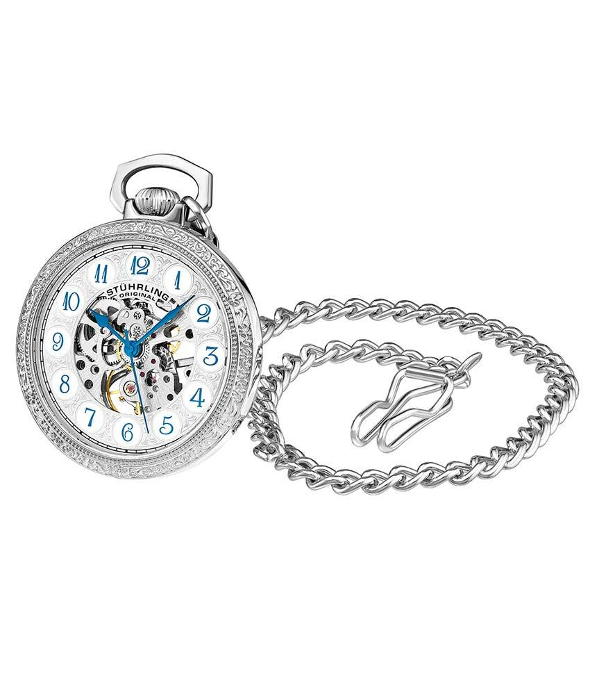 Silver Dial / Silver Case / Alloy Pocket Watch