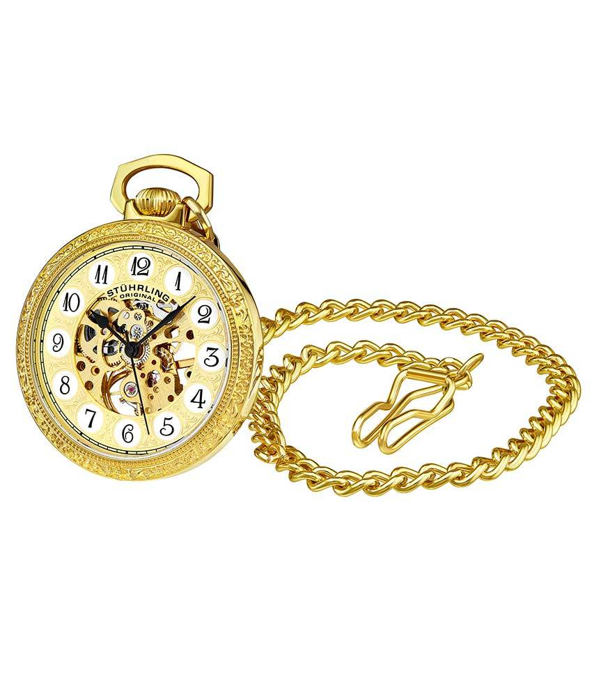 Gold Dial / Gold Case / Alloy Pocket Watch