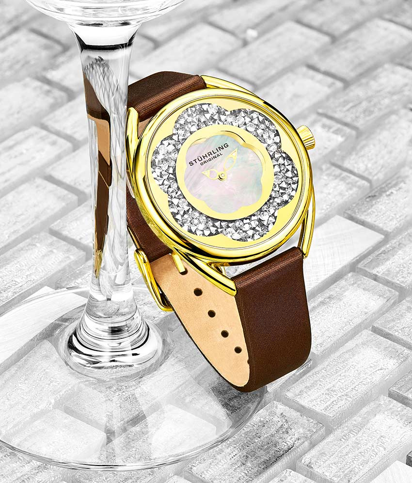 Silver Dial / Gold Case / Brown Band