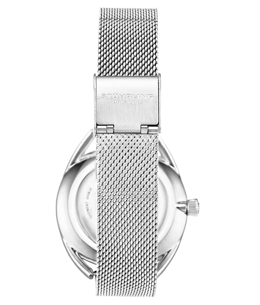 White Dial / Silver Case / Silver Stainless Steel Bracelet Silver Foldover Buckle 2