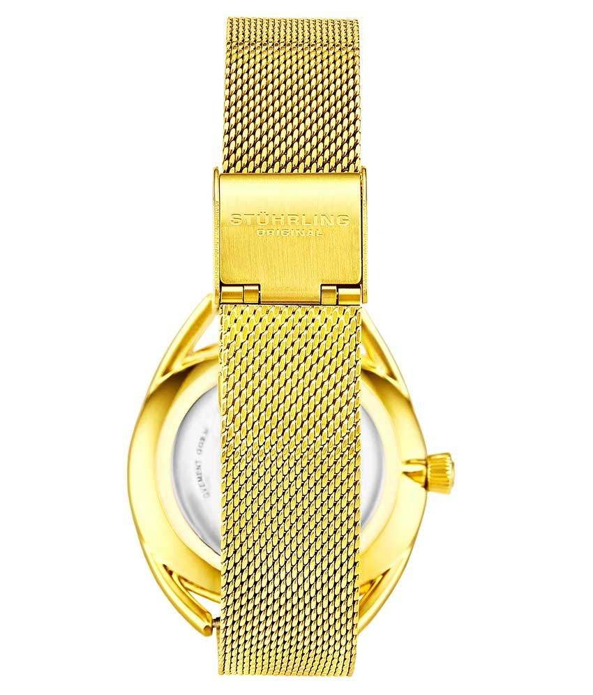 White Dial / Gold Case / Gold Stainless Steel Bracelet Gold Layered Foldover Buckle