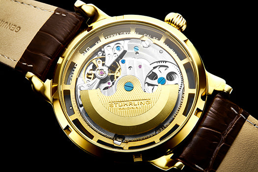 Automatic movements are often highlighted with an exhibition caseback.