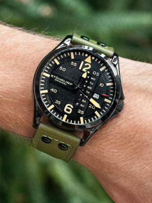 Aviator 3916, a top rated Stührling watch.