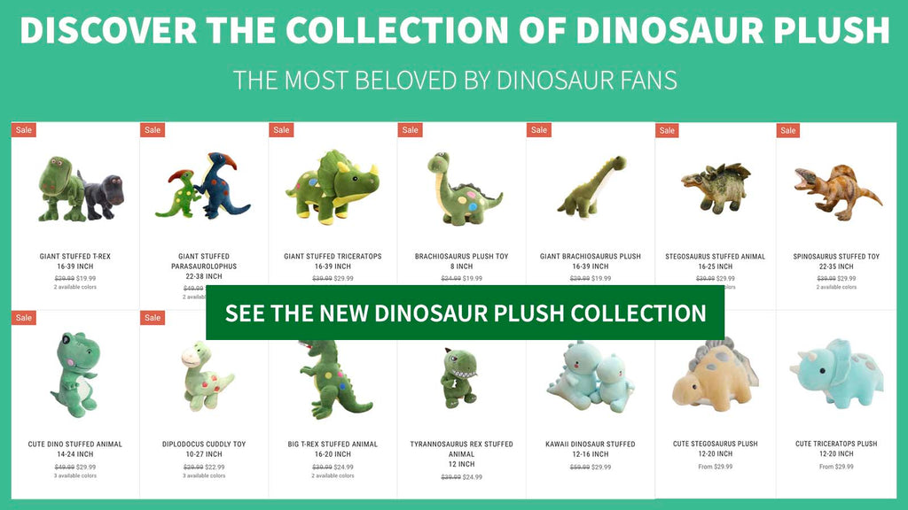 dinosaur plush collection