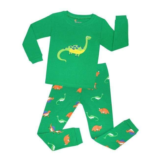 Long Sleeve Dinosaur Pajamas Happy Diplodocus