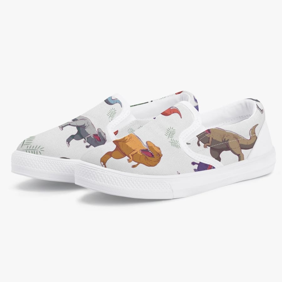 Colorful T-Rex <br> Kids' Slip-On Shoes