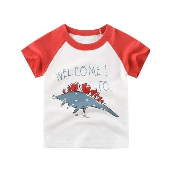 Dinosaur Boy Shirt <br> Welcome To Dinosaur Red