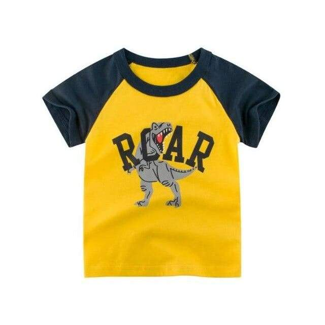 Dinosaur Boy Shirt <br> Yellow Roar