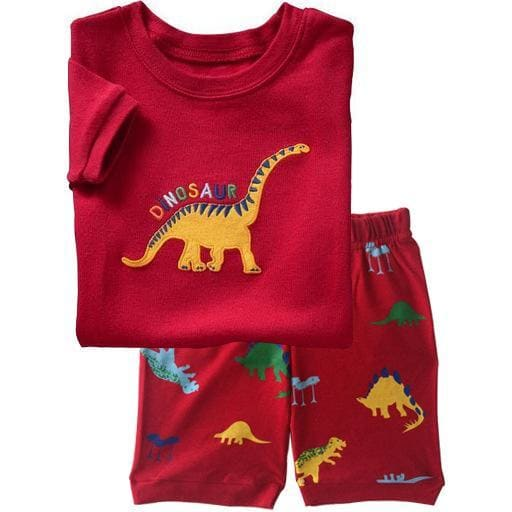 Red Dinosaur Summer Pajamas