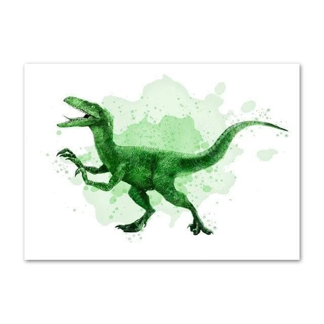 Raptor Watercolor<br> Printed Poster