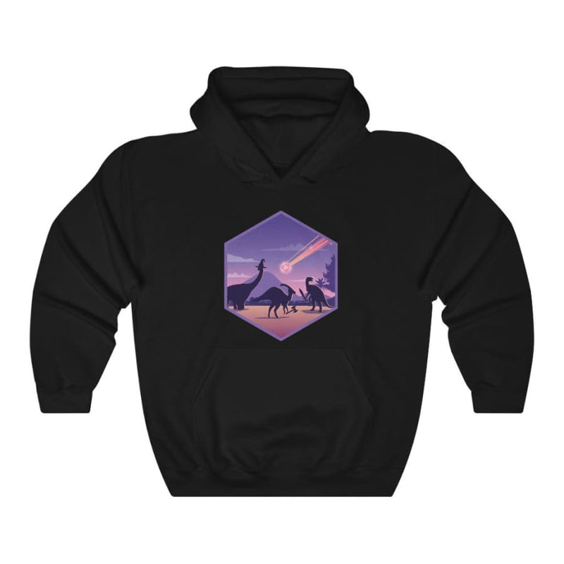 Dinosaur Hooded Sweatshirt Extinction - Purple / L - Hoodie