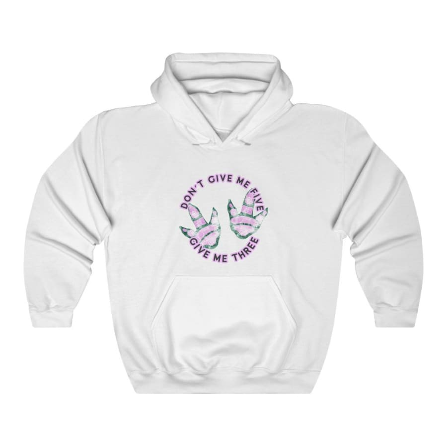 Dinosaur Hooded Sweatshirt For Women <br> Don't Give Me Five