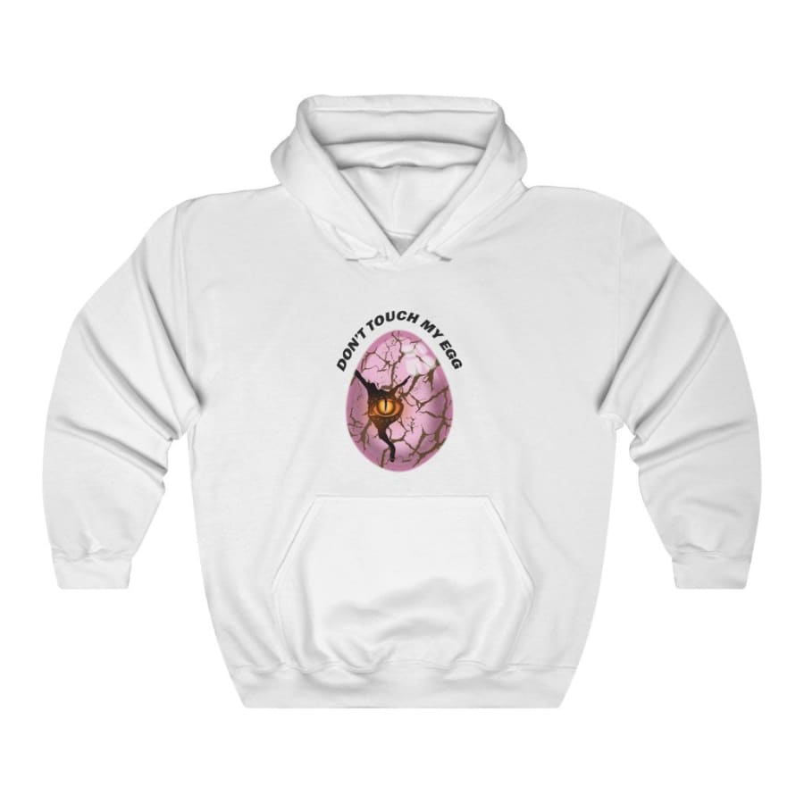 Dinosaur Hooded Sweatshirt For Women Don't Touch My Egg -