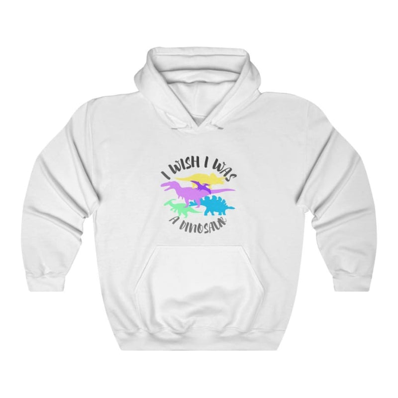Dinosaur Hooded Sweatshirt For Women <br> I Wish I Was A Dinosaur