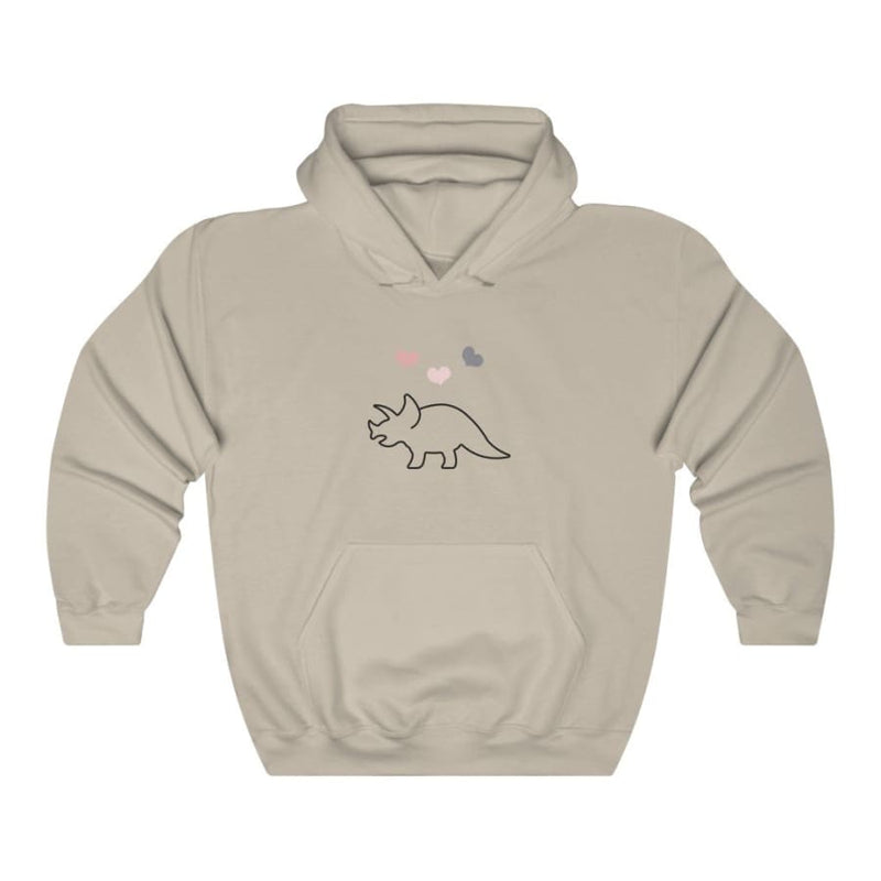 Dinosaur Hooded Sweatshirt For Women <br> Love Triceratops