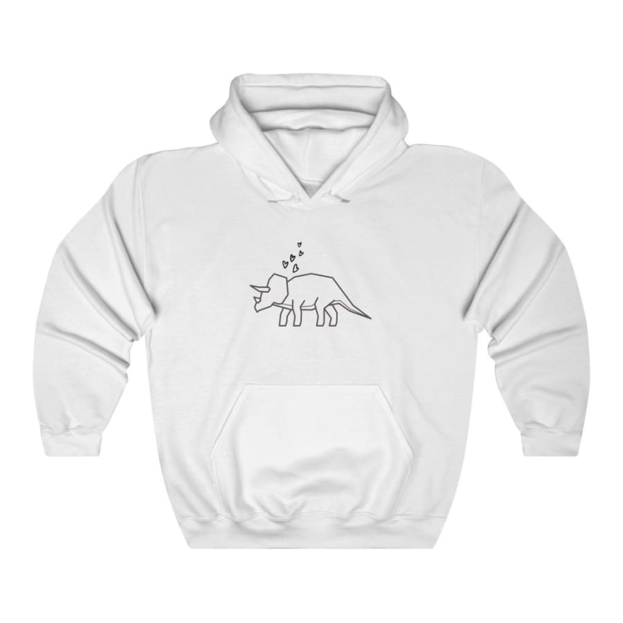 Dinosaur Hooded Sweatshirt For Women Minimalist Triceratops