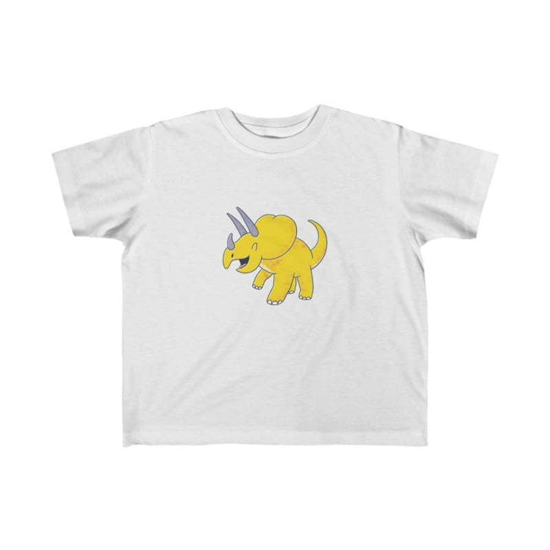 Dinosaur Kids Tee Cute Triceratops - Light Blue / 4T - Kids