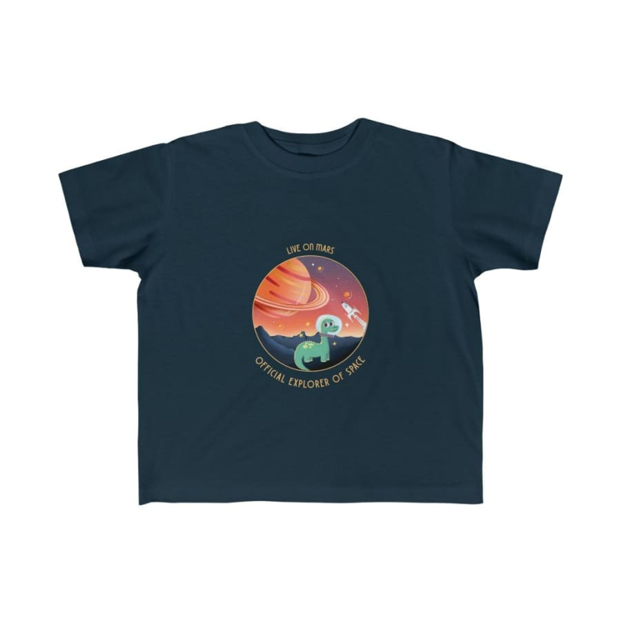 Dinosaur Kids Tee Official Explorer Of Space - Navy / 4T -