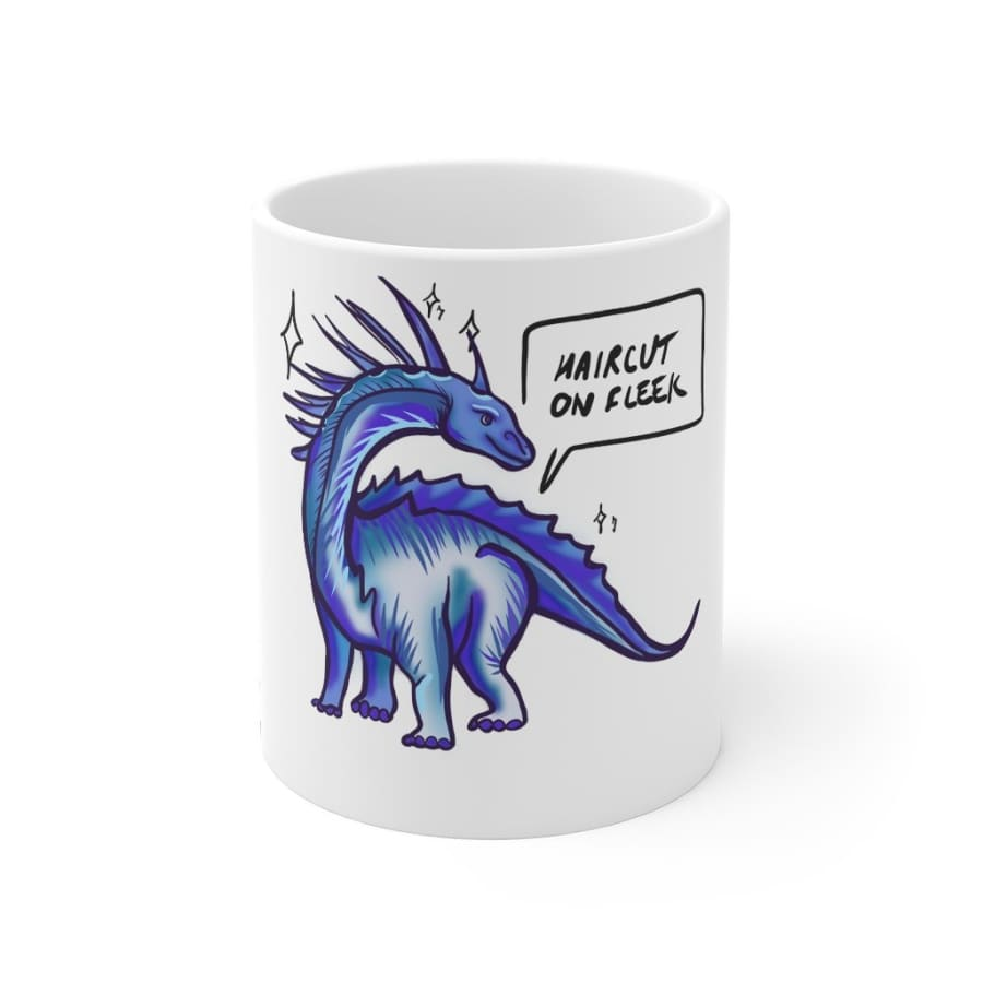 Dinosaur Mug Haircut On Fleek - 11oz - Mug