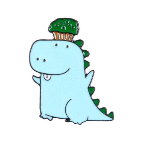 Dinosaur Pin / Cartoon Brooch Pin | Cheeky Dinosaur