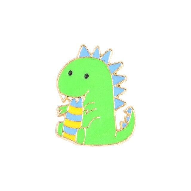 Dinosaur Pin / Cute Dino Pin | Happy Dino