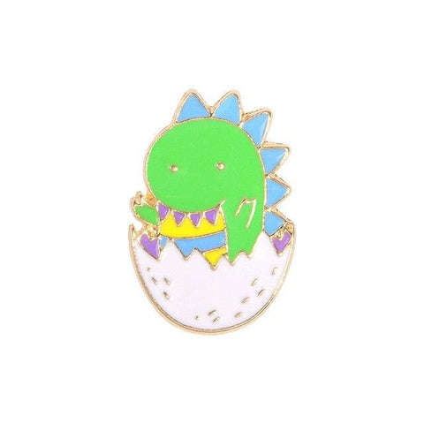Dinosaur Pin / Cute Dinosaur Badge | Dino In An Egg