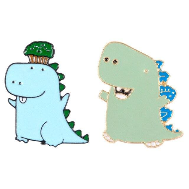 Dinosaur Pins / Fashion Pins | Set Of 2