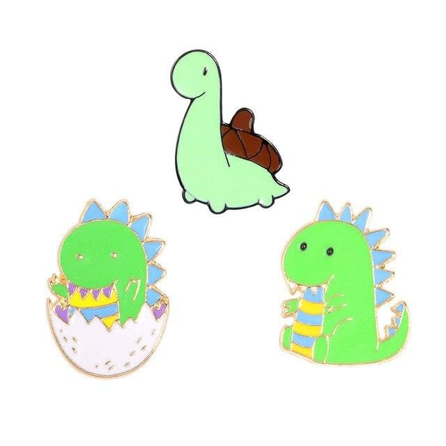 Dinosaur Pins / Trendy Pins | Set of 3