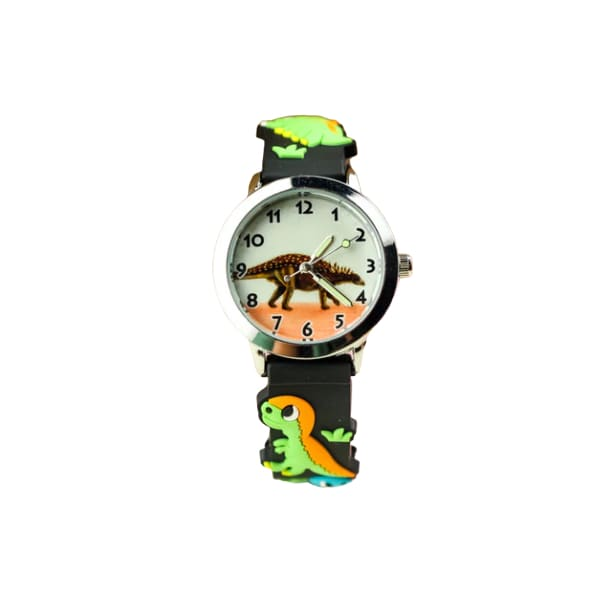 Dinosaur Watch <br> Black Stegosaurus