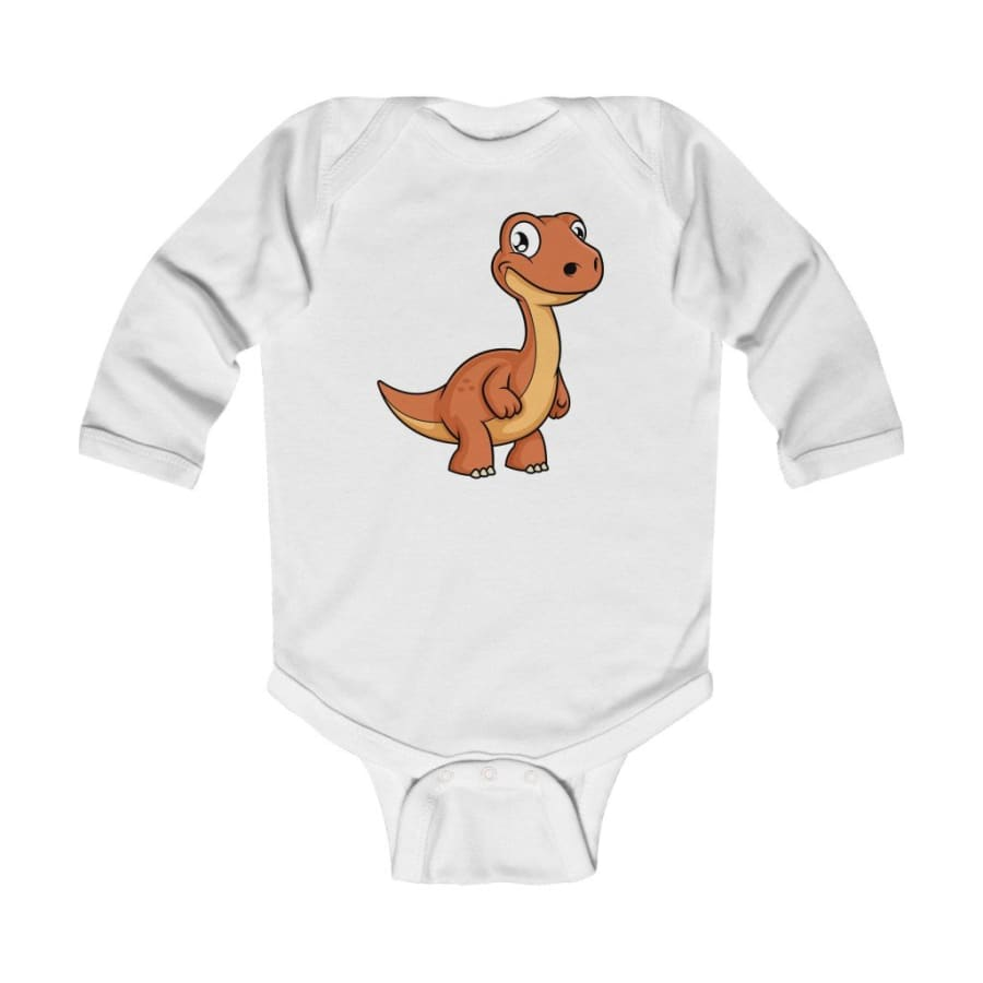 Infant Long Sleeve Bodysuit Baby Apatosaurus