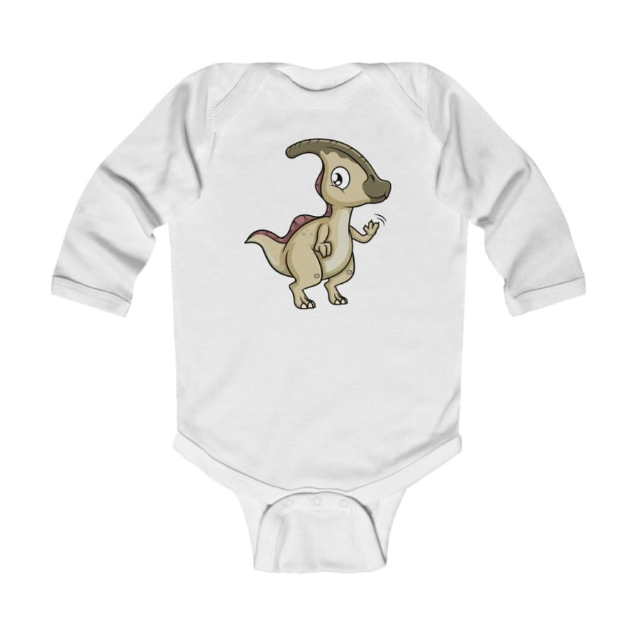 Infant Long Sleeve Bodysuit Baby Parasaurolophus